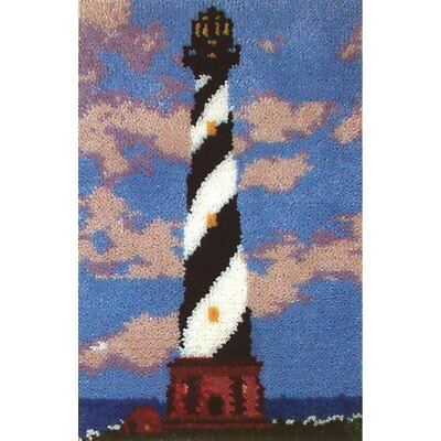 """Coastal Haven Latch Hook Kit 19.5x27.5"""" By MCG Textiles No Tool Included."""