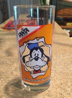 Fanta Orange flavor soda GlassWalt Disney Goofy 1986 Germany