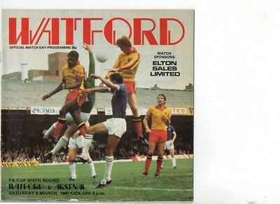 Watford v Arsenal 1979/80 FA Cup 6th round