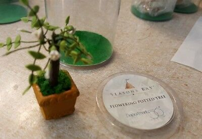 Dept 56 Seasons Bay Accessory 1998 FLOWERING POTTED TREE White 53332 Retire 2001