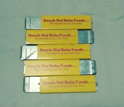 5 Vintage advertising Box Cutters BEECH NUT BABY FOODS AS NATURAL AS YOU CAN BUY
