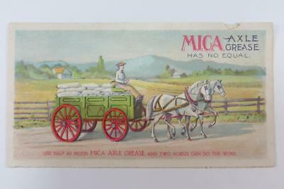 Vintage Advertising brochure  for Mica Axle Grease