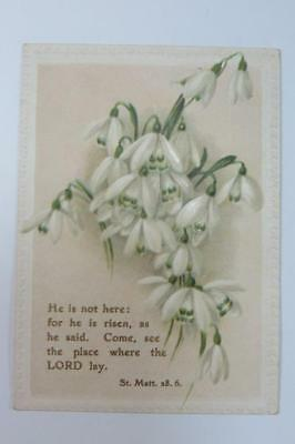 Victorian Trade Card He is not here: for he is risen, as he said  St. Matt. 28.6