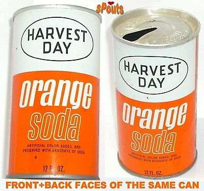 Harvest Day Orange Soda Can By Markets Inc.milan,il.illinois Vintage Store Brand