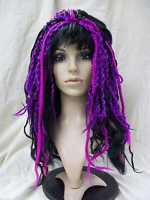 Apocalypse Dreads Wig Steampunk Goddess Mambo Witch Doctor Twisted Purple Rave