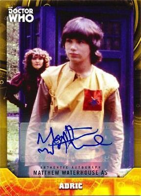 Matthew Waterhouse as Adric Yellow /25 Autograph/Signature Near Mint Topps
