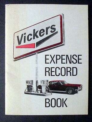 "Vintage 1972/1973 Vickers Expense Record Book 4.5 "" x 3.5"" Unused"