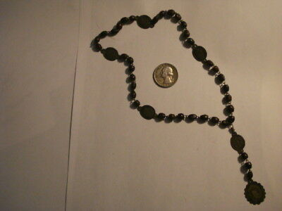 Antique Italian Italy Rare Rosary Servita Virgin Of Sorrows 19 Century ..