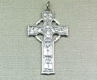 "Vintage Sterling Silver Cross Estate Jewelry Pendant 1 3/4"" Long Hallmarked"