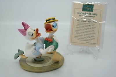 """WDCC """"Oh Boy What A Jitterbug"""" Donald & Daisy Mr. Duck Steps Out  w/ COA NO BOX"""