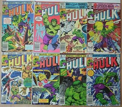 "1981. 8 x ""INCREDIBLE HULK"". Marvel comics Vol.1 #'s 259 - 266 consec. All Fine."