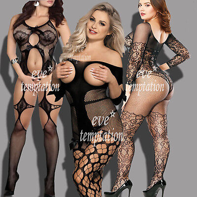 Sexy Babydoll LingerieUnderwear BODYSTOCKING SUSPENDER Catsuit lovely Bow Tights