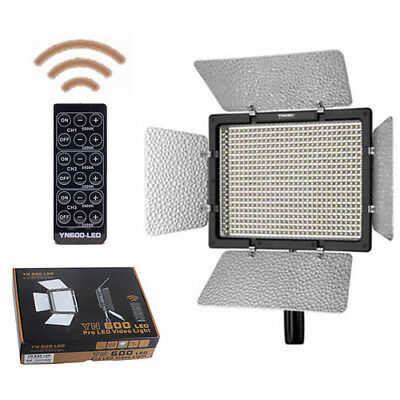 Yongnuo YN-600 5500K Pro LED Video Light Camcorder with Remote for Canon Nikon