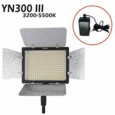 Yongnuo YN300 III Pro 3200-5500K LED Video Studio Light Lamp for DV Camcorder US