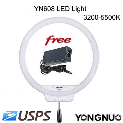 YONGNUO YN608 LED Video Light with 3200K-5500K Color Temperature Circular US
