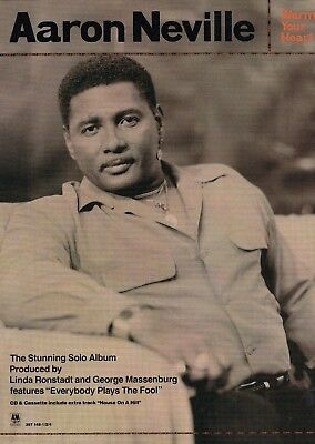 Music Press Advert  For The 1991  Aaron Neville Album 'warm Your Heart'