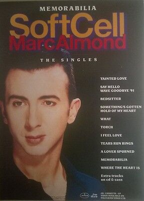 Music Press Advert  For  The Soft Cell / Marc Almond Album 'the Singles'