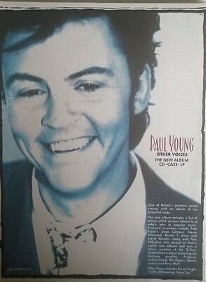Music Press Advert  For The Paul Young Album 'other Voices'