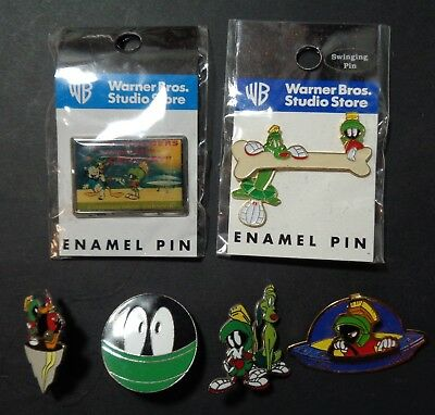 Lot of 6 Warner Brothers Marvin the Martian Pins