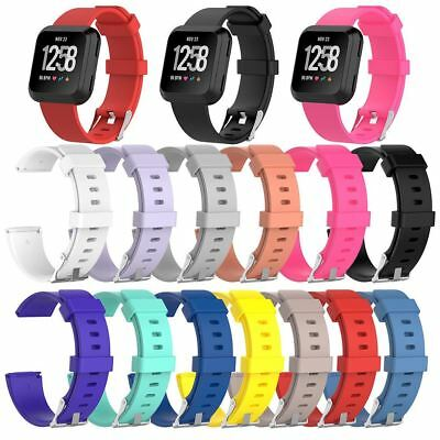 For FitBit Versa Strap Replacement Band Wristband Classic Metal Buckle Wrist