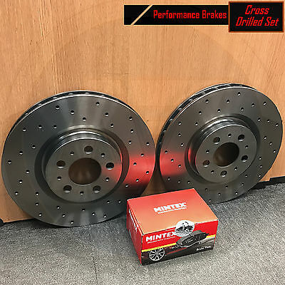 FOR VW GOLF MK3 2.8 VR6 FRONT MINTEX CROSS DRILLED BRAKE DISCS PADS SET 288mm