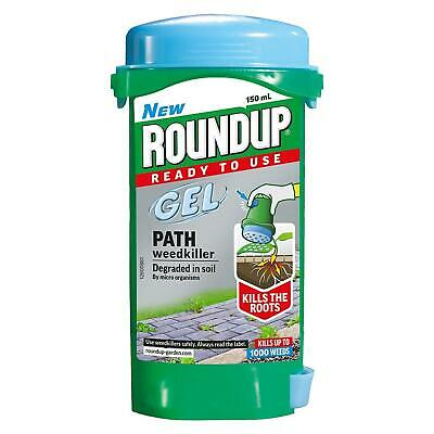 Roundup Ready To Use Path Weedkiller Gel 150ml Kill Weeds Roots Patio Drive