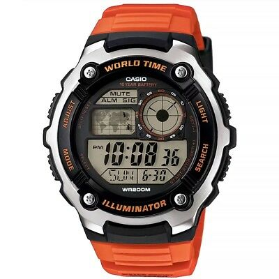 Casio Mens Unisex Digital LCD Sports Watch with Chrono and Alarms AE-2100W-4AVEF