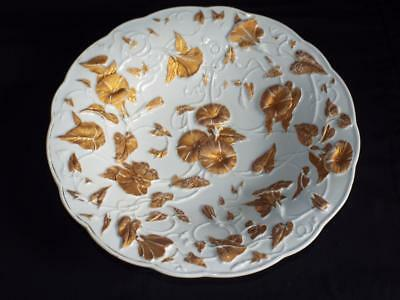 """Large vintage 11.25"""" Meissen Morning Glory decorated bowl."""