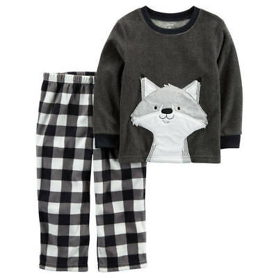 NWT ☀FLEECE☀ CARTERS Boys Pajamas WOLF New  YOU PICK SIZE  7   8    $32