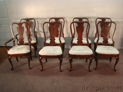 49288:Pennsylvania House Solid Cherry Set of 8 Queen Anne Dining Chairs