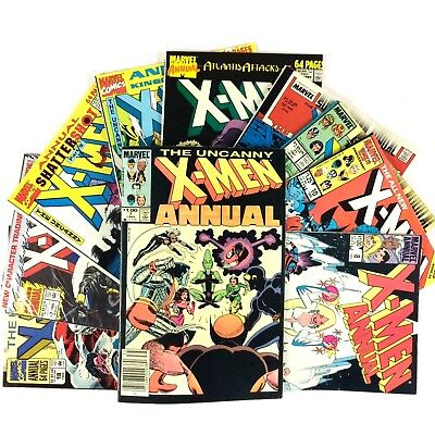 Uncanny X-Men Annual 10 Issue Comic Book Lot Marvel Wolverine Storm FN VF