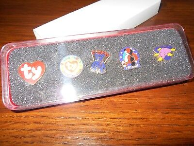 Set of 5 Ty Pins in Original Box