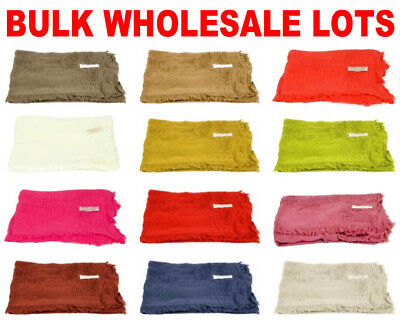 WHOLESALE Scarves - BULK LOT Lightweight Soft Pashmina Lace Fringes Scarf Shawl