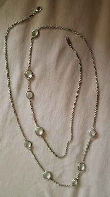 """ippolita necklace rock candy clear quartz sterling silver 37"""""""