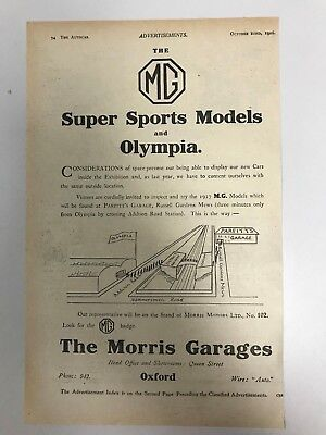 VERY EARLY RARE 1926 MG (MG Super Sport) Morris Garages Old Car Advert L54