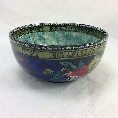 Hancock & Sons Rubensware 8 Inch Bowl Hand Painted Pomegranate Art Deco Design