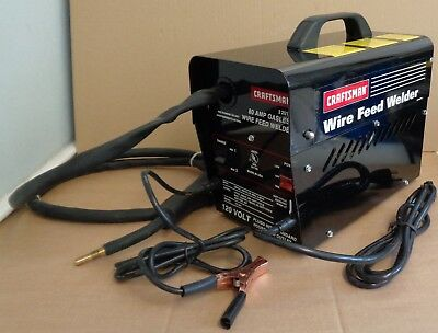 Craftsman Wire Feed Welder Model 920101 80 Amp Gasless 120V, New Old Stock
