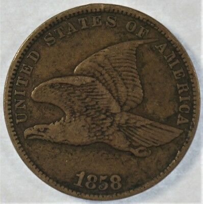 1858 Collectible Flying Eagle Cent Small Letters (b403.15)