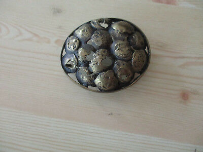 1950s VINTAGE ABSTRACT FREE FORM ART BRASS BELT BUCKLE