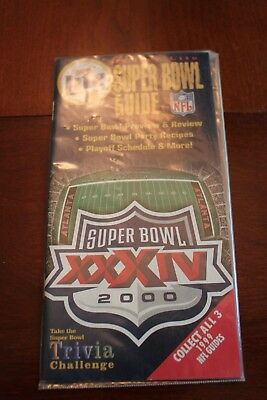 Miller Lite Super Bowl Guide Xxxiv 2000