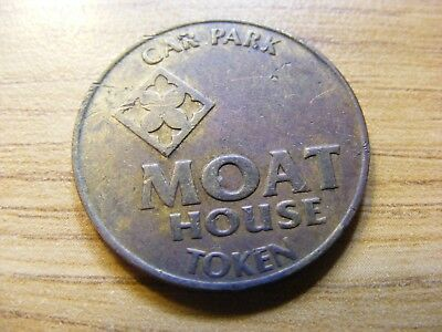 Moat House Car Park Token - Nice Condition - 25mm Dia
