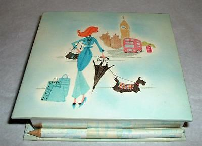 A.K. Higgins Scottie Dog Scottish Terrier Note Pad and Pencil