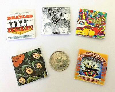 """Dollhouse Miniature Overstock Lot Sale - """"Record"""" Albums with """"Records"""" #17 1:12"""