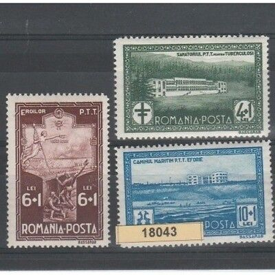 1932 Romania Pro State Employees 3 Val Mlh Mf18043