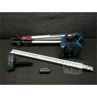Bosch GRL 250 HVCK Self Leveling Rotary Laser Level Kit, 1000ft Range, USED*