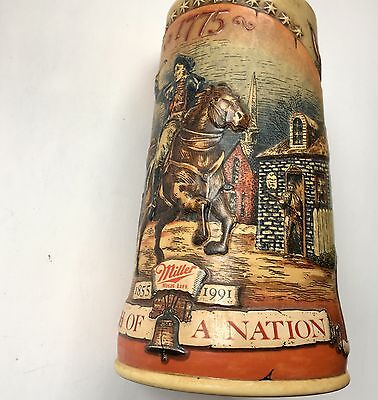 MILLER Beer Mug Stein BIRTH OF A NATION 1775 First in a Series Licensed AMERICAN