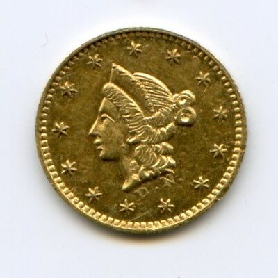 1853/2 DN RD Liberty G50C California Fractional Gold / BG-409 DSI RARE!