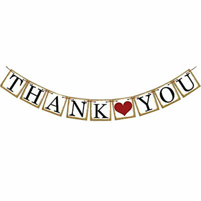 THANK YOU Letter  Birthday Party Decor Photo Prop Banner Set 9 in 1