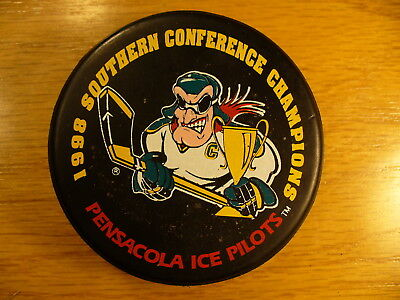 ECHL Pensacola Ice Pilots '98 S Conf Champs Team Logo Hockey Puck Collect Pucks