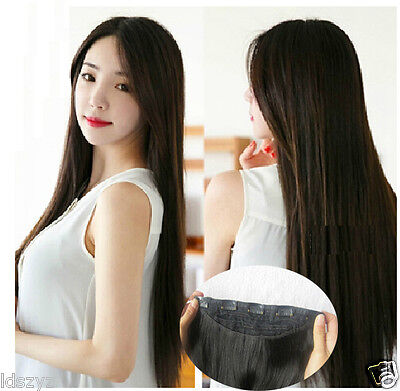 100% Hair Extensions Full Head One Piece Clip In Thick Long  200G 160G 120G